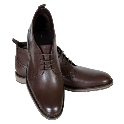 Hugo Boss Black Label Mens Nevisio 50247369 Brown Leather Ankle Boots Boss2764