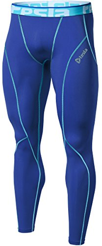 TM-P16-BLSZ_Large j-XL Tesla Men's Cool Dry Compression Baselayer Pants Leggings P16