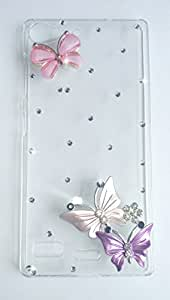 WOW Stone Studded Crstal Clear Back Cover Case For Lenovo Vibe X2