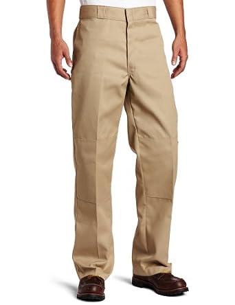 Dickies Men's Loose Fit Double Knee Work Pant, Khaki, 26x30