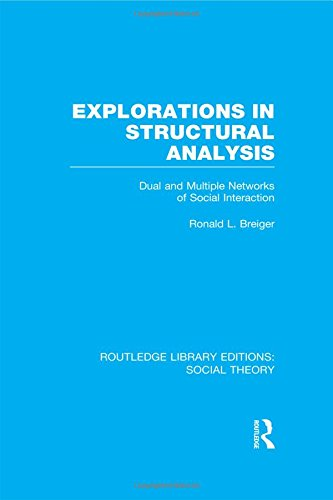 Routledge Library Editions: Social Theory: Explorations in Structural Analysis (RLE Social Theory): Dual and Multiple Networks of Social Interaction