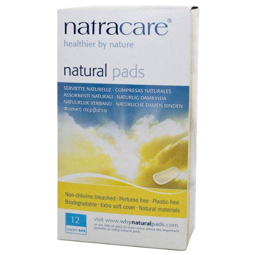Natracare Natural Pads, Super, 12-Count Boxes (Pack Of 12)