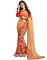 Arth Fashion Women's Georgette printed Saree With Blouse Piece (AYESHA22_Red_FreeSize)