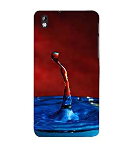 DUAL COLOURED WATER DROP OUT OF A WHIRLPOOL 3D Hard Polycarbonate Designer Back Case Cover for HTC Desire 816::HTC Desire 816 G