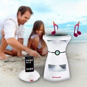 Honeywell Wireless Outdoor Solar Speaker (White)