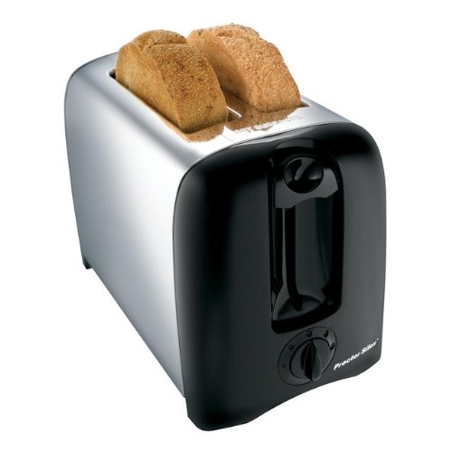 Proctor Silex Toaster 2 Slice Chrome Black