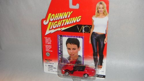 JOHNNY LIGHTNING 1:64 SCALE VIP RED VALLERY'S DODGE VIPER DIE-CAST COLLECTIBLE WITH NIKKI FRANCO TRADING CARD, VIP JOHNNY LIGHTNING NATALIE RAITANO DODGE VIPER CAR