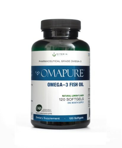 OMAPURE Pharmaceutical Grade Omega-3 Fish Oil (1 Bottle; 120 softgels) (Zone Labs Omega Fish Oil compare prices)