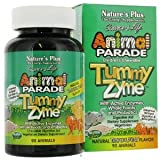 Nature's Plus, Source of Life, Animal Parade, Children's Chewable Tummy Zyme, Natural Tropical Fruit Flavour, 90 Animals
