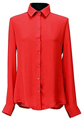 Ladies High Neck Frilly Womens Vintage Victorian Ruffle Top Shirt Blouse