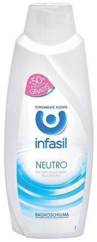 6 x INFASIL Bagno Schiuma Neutro 750 Ml