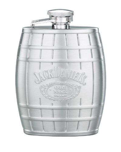 Jack Daniel's Licensed Barware Barrel Flask, Embossed, 4-Ounce (Jack Daniels Barrel Flask compare prices)