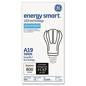 GE 65386 - LED13DA19/830 A Line Pear LED Light Bulb