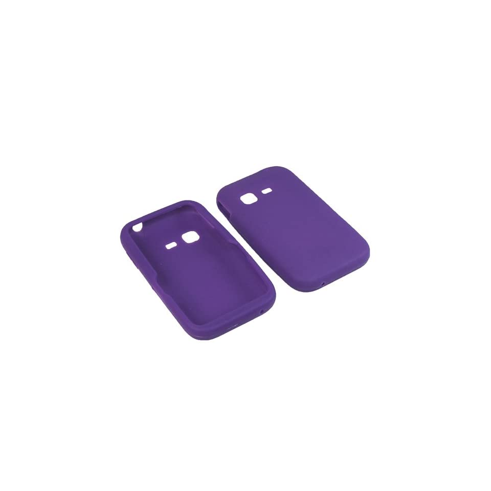 BW Silicone Sleeve Gel Cover Skin Case for Tracfone, Net 10, Straight Talk Samsung S390G Purple