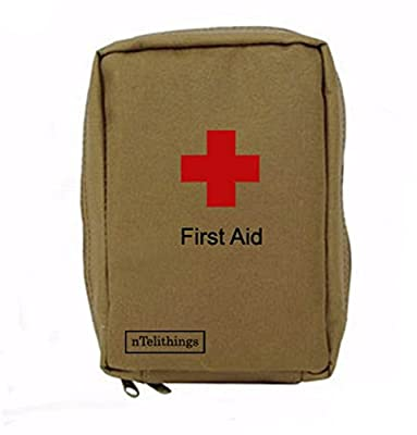 Tactical First Aid Kit: First Aid Kit Compact For Emergency Preparedness Home Office Job Site Camping Survival Hunting Biking Motorcycle Bug-out Bags Split-kits by Ntelithings