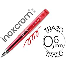 ROTULADOR ROLLER INOXCROM SHORT GEL OFFICE CAMPUS ROJO 0,6MM (12 unid.)