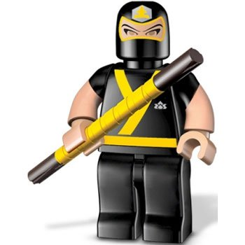 "Yellow Ranger Training Mode ~1.6"" Micro-Figure: Power Rangers Super Samurai x Mega Bloks Series #2 - 1"