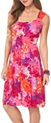 London Times Plus Abstract Floral Panel Dress