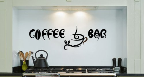 Housewares Vinyl Decal Coffee Bar Cup Beans Quote Home Wall Art Decor Removable Stylish Sticker Mural Unique Design For Room Kitchen Coffee Shop Cafe