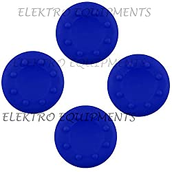 Xbox One PS4 High Quality Anti-Slip Silicone Cap Cover- Blue (4 Pcs)