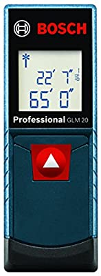 Bosch GLM 20 Compact Laser Measure with Backlit Display, 65' from Bosch