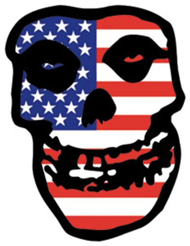 Licenses Products Misfits US Skull Sticker
