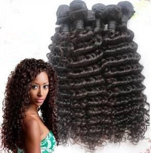 12-30'' Brazilian Virgin Hair Weave Bundles Deep Curly Hair Weft 3bundles/lot 100% Human Hair Extensions With Mixed Length (3pcs 18inch)