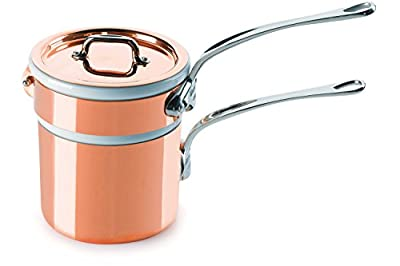 Mauviel Made In France M'Heritage Copper 150s 6104.12 0.9-Quart Bain Marie with Cast Stainless Steel Handle