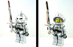 Lego castle knight of the round table with chrome silver sword toys games - Knights of the round table lego ...