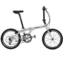 Hasa Folding Foldable Bike Shimano 18 Speed 20 Inch White