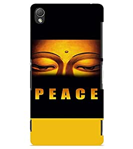 PrintVisa Religious & Spiritual Buddha Peace 3D Hard Polycarbonate Designer Back Case Cover for Sony Xperia Z3 Mini
