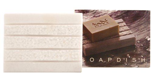 tade (Polygonaceae) natural white marble SOAP dish 350 g rectangle