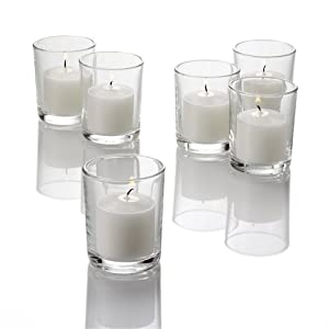 Set of 72 Richland® Votive Candles and 72 Eastland® Votive Holders