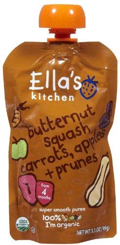 Ella'S Kitchen Inc Baby Fd, Og, Btrnt, Crts, Apl, 3.50-Ounce (Pack Of 7)