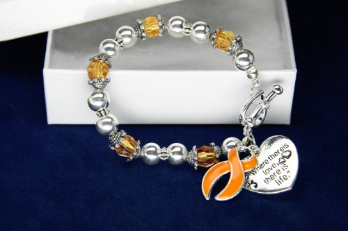 Orange Ribbon Bracelet-Where There Is Love (18 Bracelets)