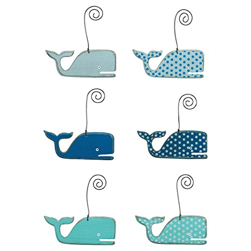Whales - Beach Themed Wooden Ornaments - Set of 6 (Dollar Tree Foam Board compare prices)