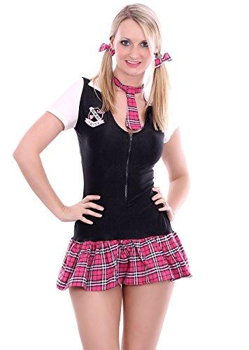 3-teiliges Schulmädchen Schoolgirl Kostüm in One-Size