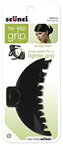 Scunci No-slip Grip Double Teeth Jaw Clip, 9cm, Colors may vary