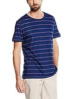 Cortefiel Camiseta Manga Corta (Azul)