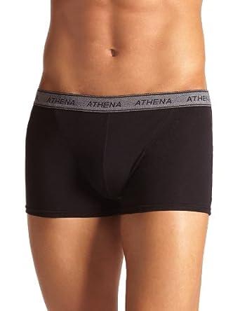 Athena - Basic Coton - Boxer lot de 4 - Uni - Homme - Noir - L (taille fabricant : 4)
