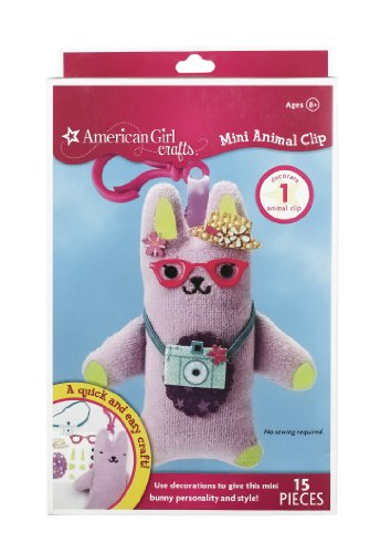 American Girl Crafts Mini Animal Clip, Bunny