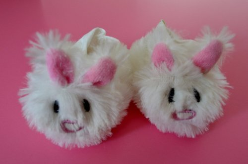 BUNNY SLIPPERS WITH CUTE HEART SHAPED NOSE FOR AMERICAN GIRL DOLLS AND BITTY TWINS