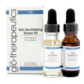グローセラピューティックス スキン リバイタライジングスターターキット: 15% ビタミン C + B5 ハイドレーション 2pcs