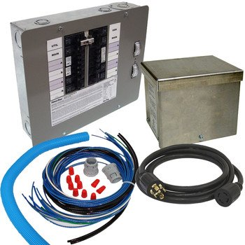 Generac 6382 30-Amp Manual Transfer Switch Outdoor Service Power ...