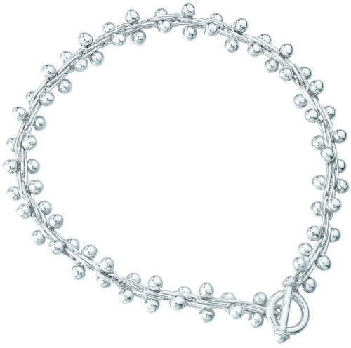 Elements Sterling Silver Ladies' N377 Bauble and Woven Necklace
