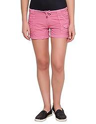 Alibi Women's Shorts(ALBR000090A_26_Lt Pink_26)