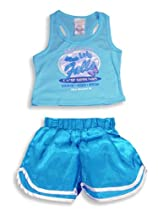 Private Label Sleepwear - Girls 2-Piece Pajama Set, Turquoise 4907-14/16