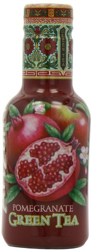 Arizona Iced Pomegranate Green Tea 500 ml (Pack of 4)