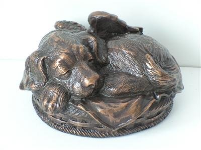 Ever My Pet Angel Dog Pet Urn Metallic Copper Small (Metallic Urn compare prices)