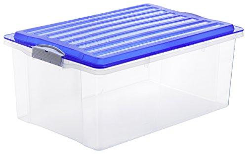 Rotho-Aufbewahrungskiste-COMPACT-transparent-mit-Deckel-in-blau-Lager-Box-aus-Kunststoff-im-DIN-A3-Format-Inhalt-38-Liter-Plastikkiste-ca-57-x-40-x-25-cm